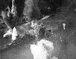 Japanese battleship Haruna under attack on 28 July 1945 (80-G-490224).jpg