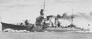 Furutaka-class cruiser - Image: Japanese cruiser Furutaka