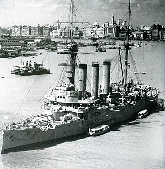 The Bund - The Bund in 1937. Japanese cruiser Izumo is in the foreground