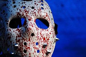 English: Hockey mask, Jason Voorhees Česky: Ho...
