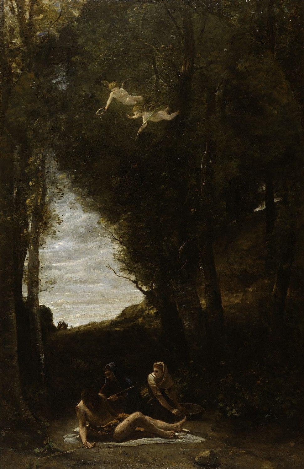Jean-Baptiste-Camille Corot - St Sebastian Succoured by Holy Women - Walters 37192