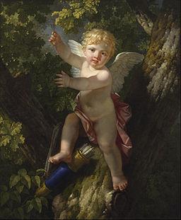 Jean-Jacque-François le Barbier - Cupid in a Tree - Google Art Project