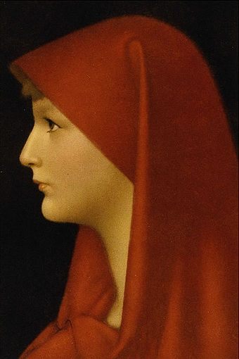 Saint Fabiola founded a hospital at Rome around 400 AD. Jean-Jacques Henner Fabiola.jpg