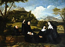 Jean Baptiste de Champaigne (1631-1681) (attributed to) - Saint Benedict and Saint Scholastica and Two Companions in a Landscape - 290251 - National Trust.jpg
