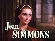 Jean Simmons kiel Princino Elizabeto