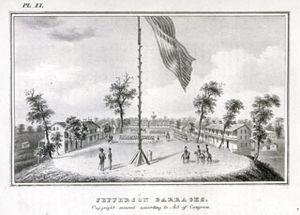 Jefferson Barracks Military Post - Jefferson Barracks during the occurrence of the Mexican-American War.
