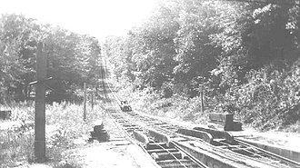 Mauch Chunk Switchback Railway - Image: Jefferson plane looking up