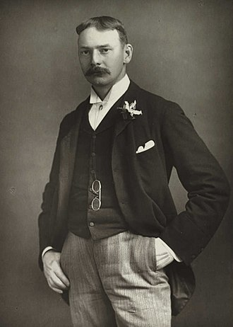 Jerome K. Jerome - Photograph of Jerome published in the 1890s