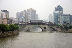Skyline of Jinjiang