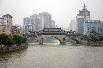 Anshun Bridge - The Anshun Bridge crosses the Jin River in Chengdu