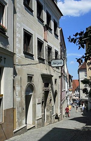Johann Mayrhofer - Birthplace Steyr, Pfarrgasse
