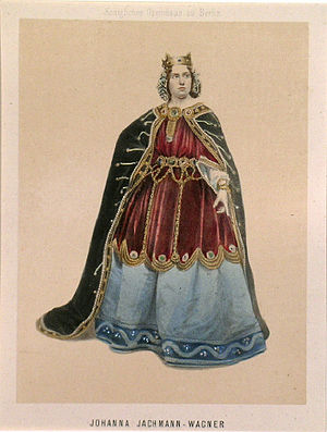 Lohengrin (opera) - Johanna Jachmann-Wagner as Ortrud, ca. 1860