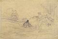 Johannot T. attr. - Pencil - Couple romantique avec amours - 24.5x17cm.jpg