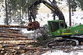 John Deere 2054 DHSP forestry swing machine in Kaibab National Forest.jpg