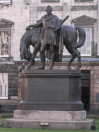 John Hope, 4th Earl of Hopetoun - Statue, Dundas House, St Andrew Square in Edinburgh