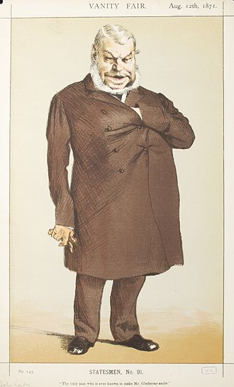 """John Locke (MP) - """"The only man who is ever known to make Mr Gladstone smile"""" Locke as caricatured by James Tissot in Vanity Fair, August 1871"""