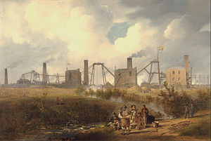 History of labour law - A view of Murton colliery near Seaham, United Kingdom, 1843