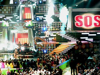 2009 Kids' Choice Awards - Jonas Brothers performing at the Kids' Choice Awards 2009