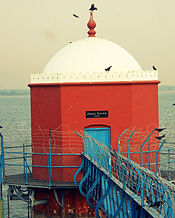 Jones Tower was built in the year of 1881 in Puzhal lake. It is used to measure the depth of the water level in the lake.