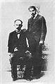 José Martí junto a Manuel Mantilla, posiblemente en Cayo Hueso, Estados Unidos 1894.jpg