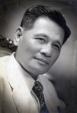 Philippine presidential election, 1949 - Image: Jose Avelino studio photo