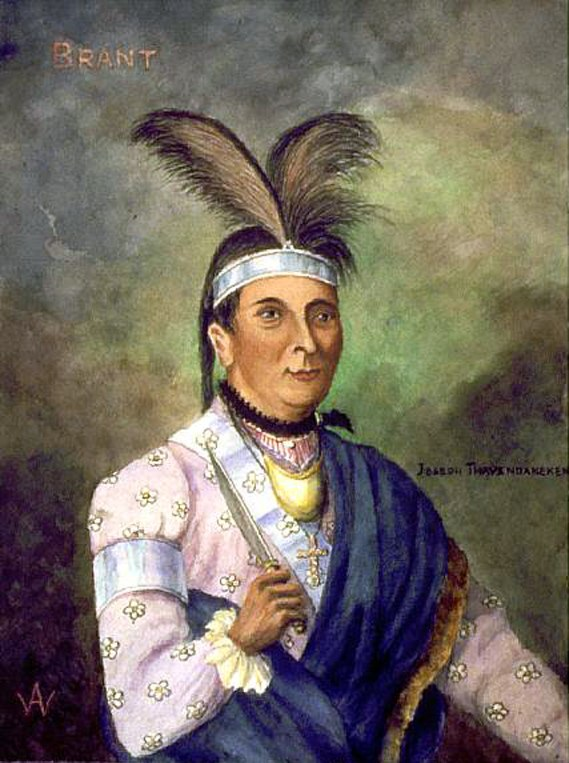 Joseph Brant watercolor by William Armstrong National Archives of Canada