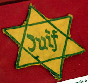 The Holocaust in France - Yellow badge made mandatory by the Nazis in France