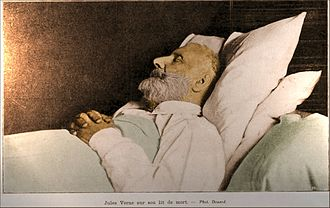 Jules Verne - Jules Verne on his deathbed, 1905