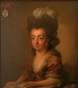 Juliana Cornelia de Lannoy - Portrait of Juliana Cornelia de Lannoy, by Niels Rode