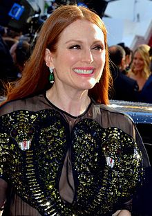 A photograph of Julianne Moore attending the Cannes Film Festival in 2016