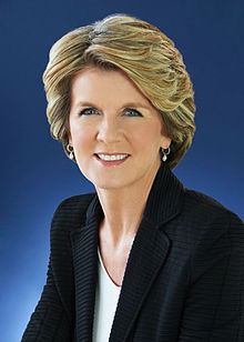 Portrait officiel de Julie Bishop en 2013.