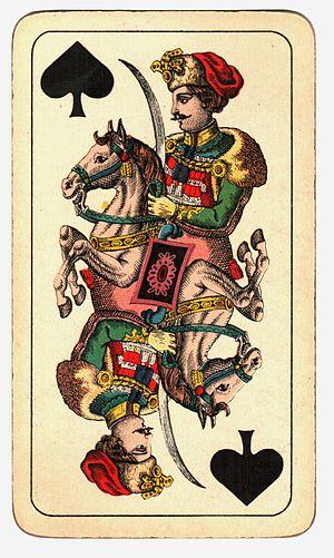 Knight (playing card) - Image: Kártya Hamburger és Birkholz R.T. Budapest (13)