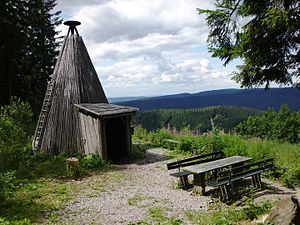 Köte - A Köte and rest area on the Schindelkopf