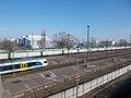 Kőbánya-Kispest railway station and Robert Bosch Budapest, 2018 Kispest.jpg