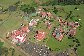 Kauai Community College - 2004 aerial view of Kauai Community College