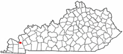 Location of Calvert City, Kentucky