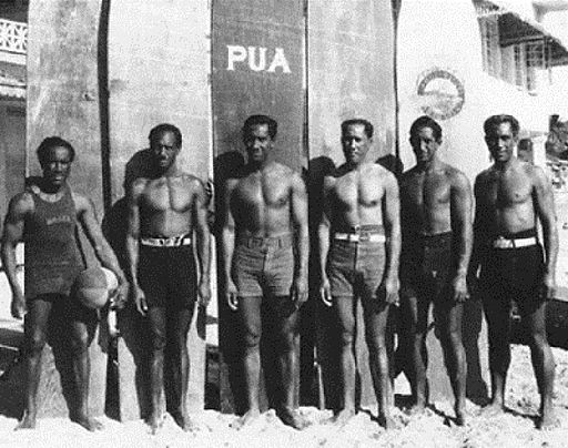 Kahanamoku brothers at Waikiki