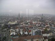 Central Kaiserslautern from the town hall building