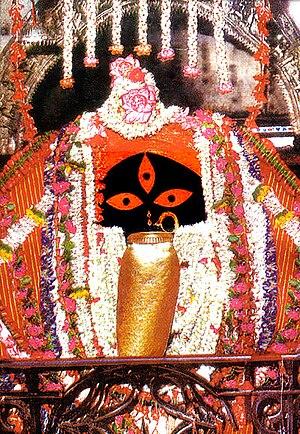 Kalighat - Kali idol at the Kalighat Kali Temple