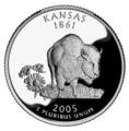 Kansas quarter, reverse side, 2005.png
