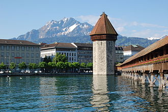 Reuss (river) - The Reuss at Lucerne