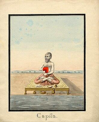 Kapila - Watercolour painting on paper of Kapila, a sage