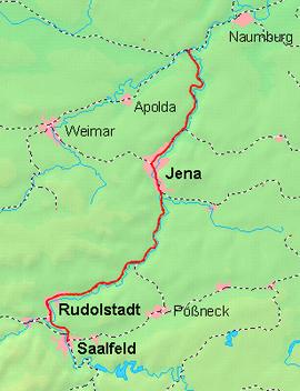 Strecke der Bahnstrecke Großheringen–Saalfeld