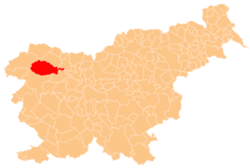 Location of the Municipality of Bohinj in Slovenia