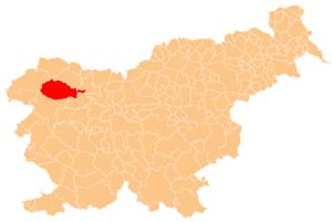 Municipality of Bohinj - Image: Karte Bohinj si