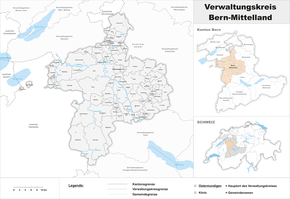 Map of the administrative district of Bern-Mittelland