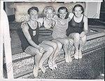 Katherine Rawls, Dorothy Hill, Eleanor Holm, Olive McKean 1934.jpg