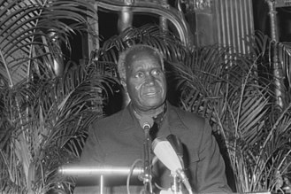 Kenneth Kaunda - Kaunda in Amsterdam, 1986