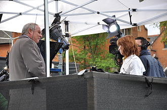 Adam Boulton - Boulton presenting Sky News with Kay Burley in May 2010