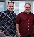 Keith Curtis with Linus Torvalds.jpg